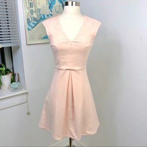 French Connection Peach Size 0 Fit n Flare Dress